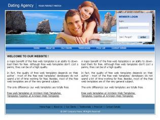 Шаблон дизайна 4 категории Знакомства  Бесплатные шаблоны сайтов.