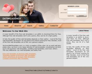 Шаблон дизайна 3 категории Знакомства  Бесплатные шаблоны сайтов.